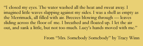 Quote from MRS. SOMEBODY SOMEBODY by Tracy Winn