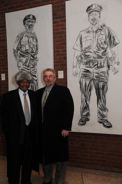 Officers Bill Jones and Fred Allen, one of the longest partnerships in the Boston Police Force.