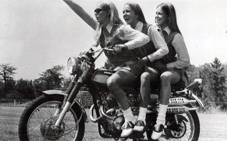 Vintage Photos of Girls in Mini Skirts on Bikes (1)