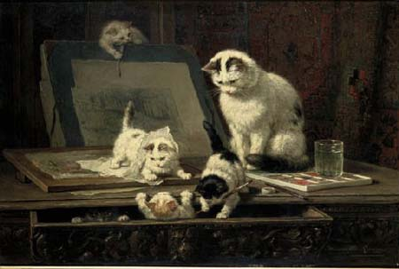 Henriette-Ronner-Knip-Painting-Lesson
