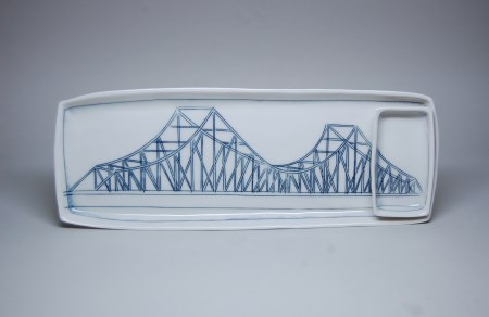Sushi set featuring Tobin Bridge by Nicole Aquillano, 2015 Brother Thomas Fellow