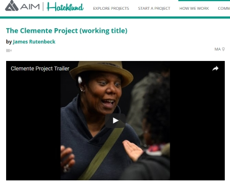THE CLEMENTE PROJECT by James Rutenbeck, crowdfunding on HatchFund
