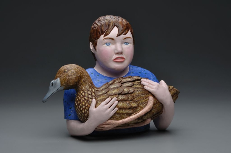 Leslie Sills, BLUE HILL BOY, recently acquired by the Fuller Craft Museum