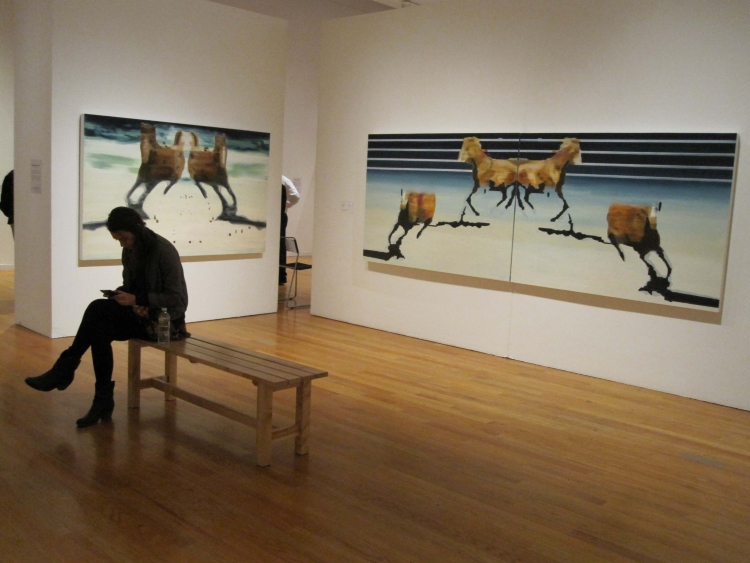 Paintings by Monica Nydam (Painting Fellow '10) at Tufts University Gallery in 2011.