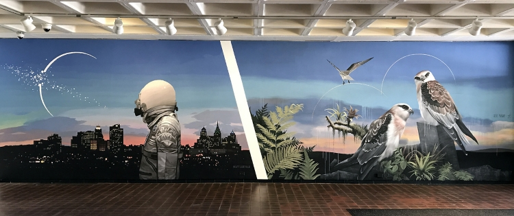 Mural by Scott Listfield and Josie Moray, part of the LCC-funded project POW! WOW! Worcester.