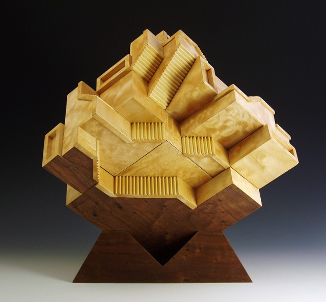 Sculptural box by Jay Rogers, exhibiting at the Society of Arts + Crafts through 1/6/2018.