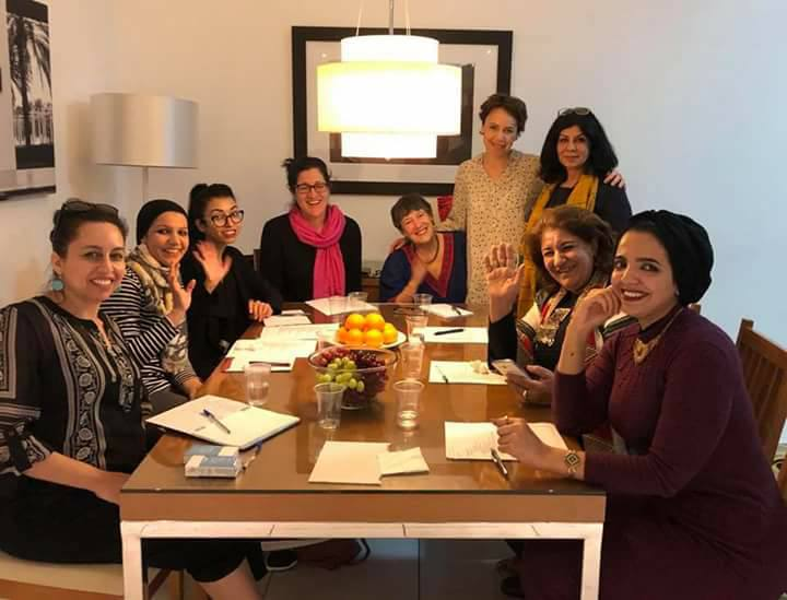 Three artists from the Boston area, three artists from Iraq, and three translators meeting in Dubai in 2017 to develop HER STORY IS.