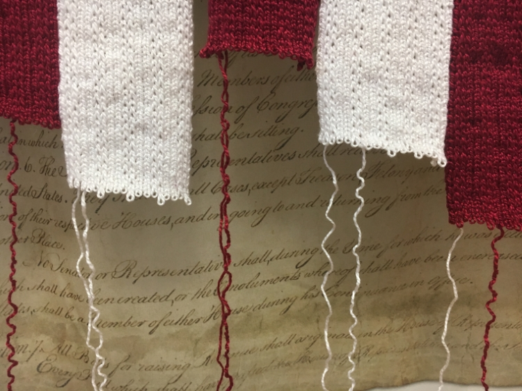 Adrienne Sloane, detail of UNRAVELING (ongoing)