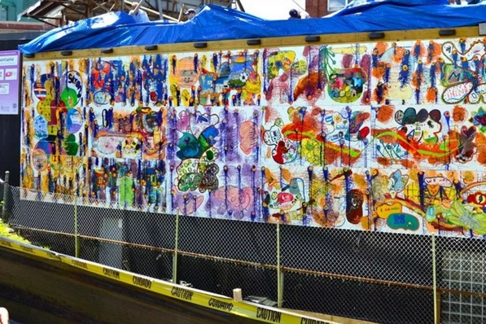 Mural from the Art Resource Collaborative for Kids Miles of Murals project.